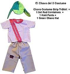 Chapulin Costumes ADULT XXXXL XXXXLARGE Party Halloween Traje Chavo PLUS SIZE