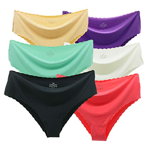 Alits Seamless Underwear for Women Hipster Panties Supersoft Stretchy Cheeky Low-Rise Breathable Bikini Panty Plus Size 6Pack