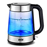 Electric Kettle 2200W 1.7L Cordless, Glass Kettle with Boil Dry Protection & Auto Shut Off, Strix Controller 2 Year Warranty *Promotional Price*