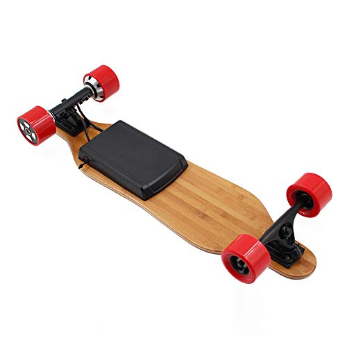 Alouette Phoenix Ryders Electric Skateboard Longboard 4.4AH Lithium Battery,Dual Motor Each 350W, 32 Inches Maple with Remote Control