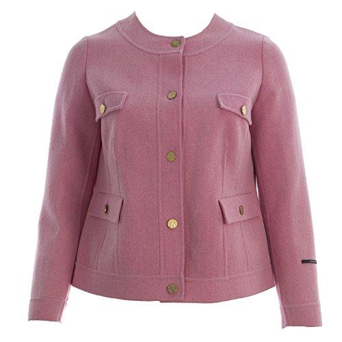 Angora Wool Coat - Marina Rinaldi Women's Nastro Coin Button Wool Coat 16W/25 Pink