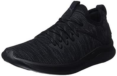 PUMA Women's Ignite Flash Evoknit WN's Blk Shoes, Puma Black, 10 US
