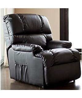 Sillon relax reclinable, color negro due-home: Amazon.es: Hogar