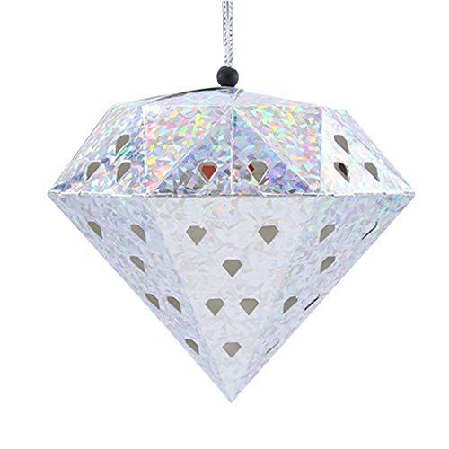 Multi Colors Paper Hanging Diamond String Lantern Wedding Christmas Ornament |Colour - M Silver|]()