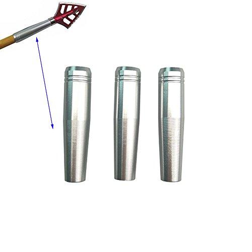 Aluminum Broadheads - Archery Arrowheads Insert Broadheads Aluminum Connector 6 Pieces Arrow Connecting Screw Broadheads (SILVER)