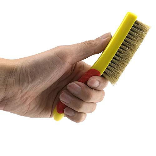 Brosse de Lavage de Jante,Parfait pour une utilisation entre les rayons serrés pour enlever la saleté et construit pour nettoyer le devant et le dos de jantes de fil