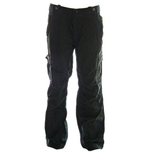 Pantalones mochileros cinturada 45038 - Maxima Calidad Senoritas Combate Pantalones, 100% Algodon Resistente Durable Hecho Negro Carbón