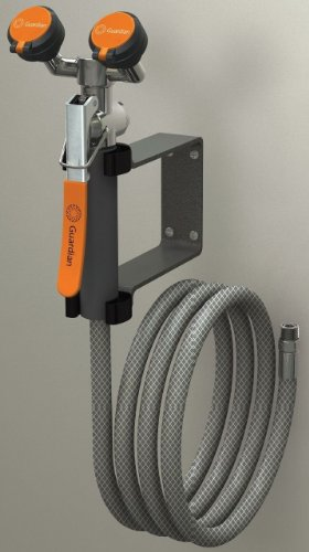 Emergency Eye Wash Wall Mount - Guardian Equipment G5026 Wall-Mount Eyewash/Drench Hose Unit with Squeeze-Open Valve