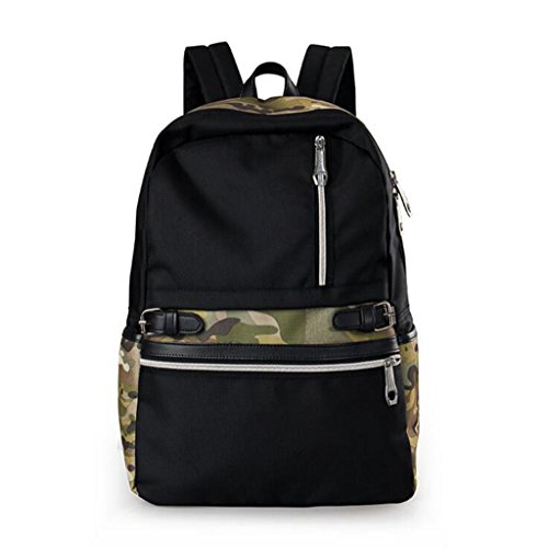 - Sucastle Casual bag fashion bag backpack student bag shoulder bag nylon bag Sucastle Color:Camouflage Size:45x32x13cm