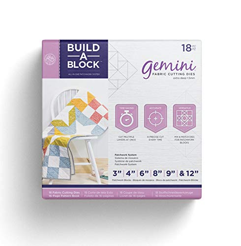 Threaders GEM MD-BAB Bulld Gemini Patchwork System Build-a-Block Textile & Fabric Patch Work Quilting Set, Silver