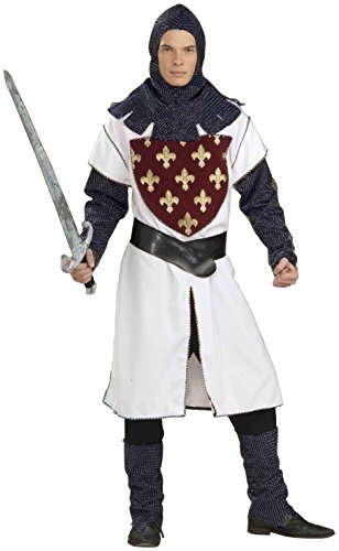 Forum Novelties Men's Designer Collection Lancelot Costume, Multi, Large (Fleur De Lis Costume)