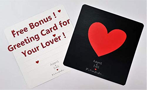 Couples Party Cards with a Bonus Greeting Card for Your Lover AdamS and EveS is an Awesome Couple Experience Surprise Your Lover with a Romantic Date Concept and Upgrade Your Love Life to a New and AdamS /& EveS fresh 2016