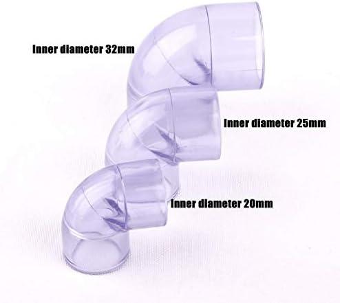 Nologo Qiyuezhuangshi01 1pcs transparente Plastik UPVC 90/45 Grad Equal Elbow Schlauchanschluss for die Gartenbewässerung Bewässerung Rohr/Rohrteile (Größe : 25mm 90 Degree)