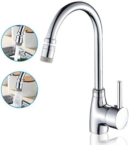 [スポンサー プロダクト]mochuan キッチン水栓 シングルレバー混合栓 洗面所 キッチン用 首振りノズル 混合栓 360度回転 切り替え2段階モード 取り付けホース付き