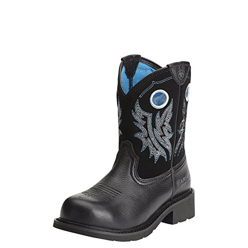 Ariat Women's Fatbaby Cowgirl Steel Toe Work Boot, Black, 8.