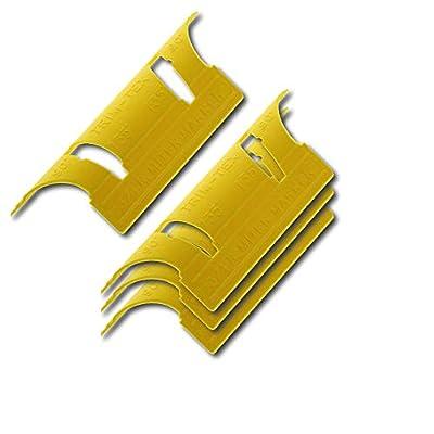 4-Pack Trim Tex Corner Bead Bullnose 90 and 135-Degree Mitre/Miter Gauge - Mark Inside Cornerbead Cuts for Window Sills and Door Frames