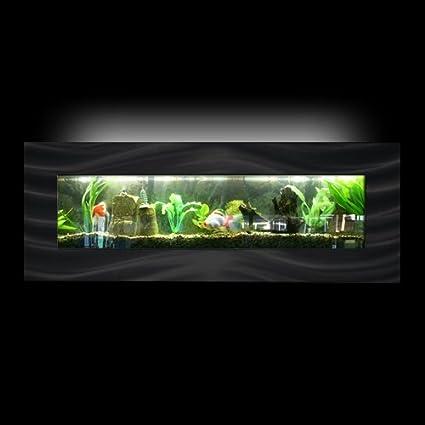Aussie acuarios montado en la pared acuario – Vista Negro