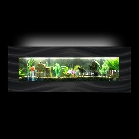 Aussie acuarios montado en la pared acuario - Vista Negro: Amazon.es: Hogar