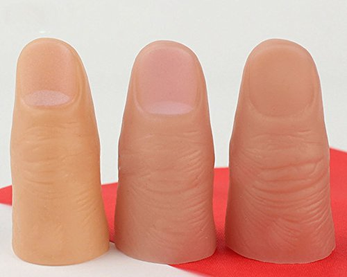 Magicswizz brand Amazing toy 3Pcs Magic Thumb Tip Trick Rubber Close Up Vanish Appearing Finger Props Toys