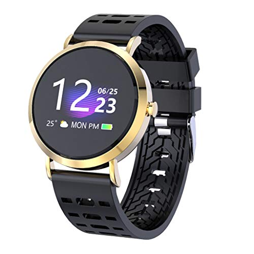 Kariwell 1.0'' IPS Color Screen Smart Watch - Blood Pressure Heart Rate/Sleep Monitoring/Camera/Music Control Sport Smart Watch Bracelet for Android iOS Kari-207 (F) (F1.0 Video)