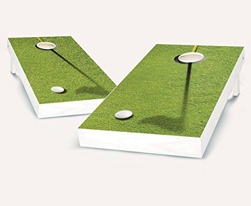 Golf CLUB TEE Cornhole Boards Regulation Size Game Set Baggo Bean Bag Toss + 8 ACA Regulation Bags