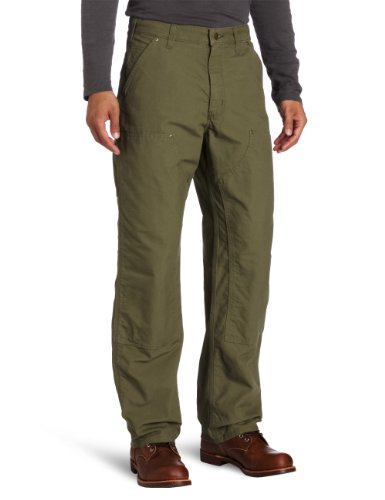 Carhartt Men's Double Front Canvas Work Dungaree,Army Gre...
