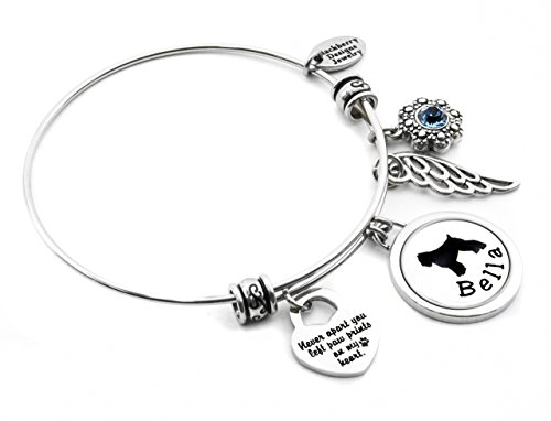 Pet memorial bracelet with personalized engraved name your choice of breed in stainless steel (Pet Memorial Breed)