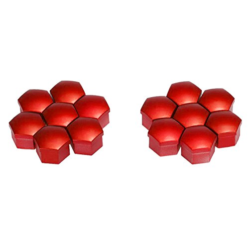 BMW Color: red XZANTE 20pcs 17mm Car Plastic Caps Bolts Covers Nuts Alloy Wheel For Skoda Audi Mercedes