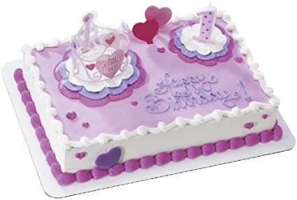 Astonishing Amazon Com Little Princess 1St Birthday Decoset Cake Decoration Personalised Birthday Cards Arneslily Jamesorg