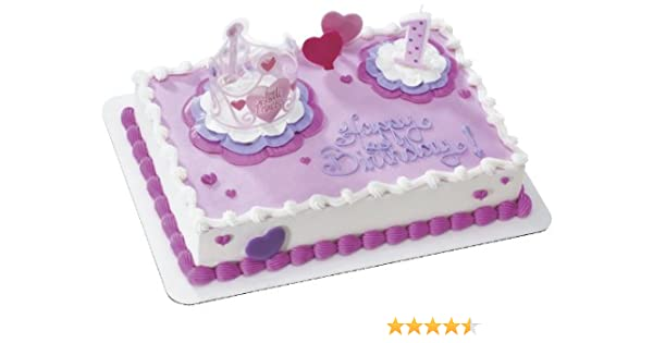 Prime Amazon Com Little Princess 1St Birthday Decoset Cake Decoration Personalised Birthday Cards Veneteletsinfo