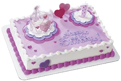 Image Unavailable Not Available For Color Little Princess 1st Birthday DecoSet Cake Decoration