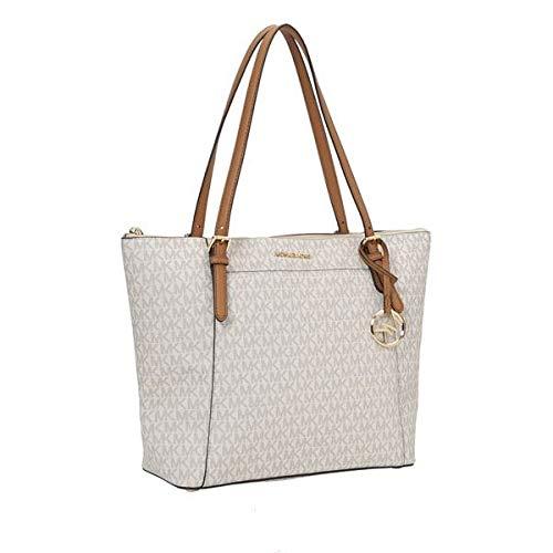 Michael Kors Ciara East West Top Zip Womens Tote (VANILLA/ACRN) (Michael Kors Vanilla Handbags)