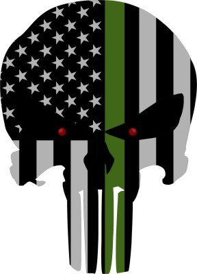 Subdued Punisher Skull Reflective Decal