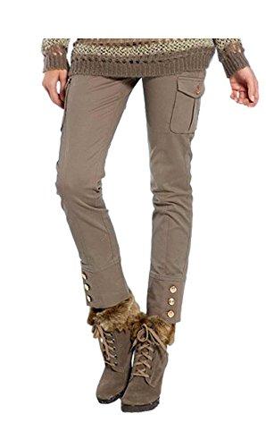 APART Fashion - Pantalón - cargo - Opaco - para mujer marrón