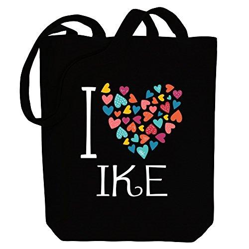 Canvas Tote I Bag Ike Idakoos Male hearts Names love colorful Oq8RB60