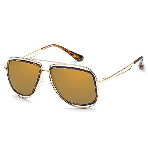Designer Lunettes Masculin Grand Femmes Lunettes Oversize UV400 Classique pour de Or Cadre Rétro Aviateur soleil Hommes Or Carré SPqEgw