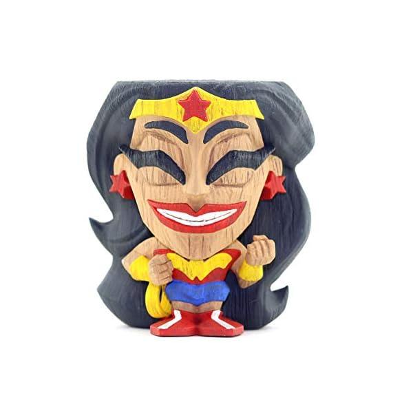 411jsKV%2BFNL Cryptozoic Entertainment Wonder Woman Teekeez Figure - 2.62-Inch Stackable Vinyl Tiki Figure - Wood-Carved Aesthetic
