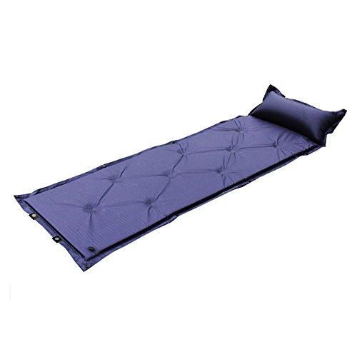 Même Matelas gonflable feuchtigkeitsabweisend Matelas gonflable portable Camping Tapis isolant Tapis Tapis avec oreiller avec pour le camping, épaisseur 2,5cm une Personnes  Bleu