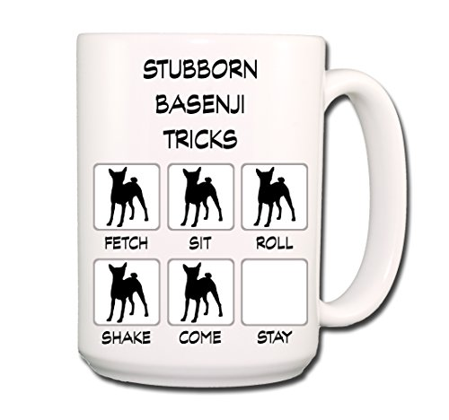 Basenji Stubborn Tricks Coffee Tea Mug 15 oz