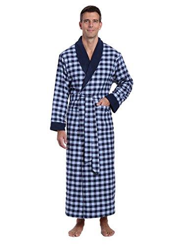 5d10ee3e6b Jual Noble Mount Mens Premium 100% Cotton Flannel Fleece Lined Robe ...