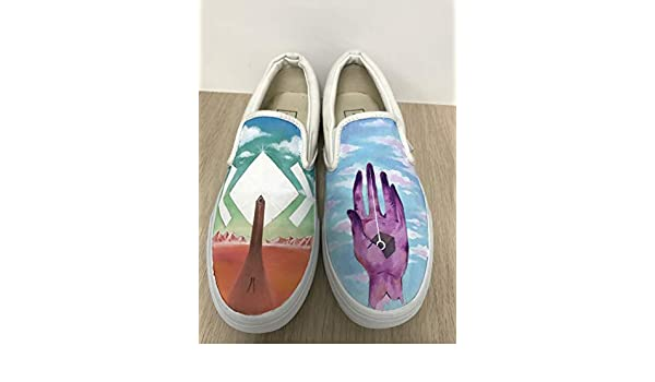 ae046e973eabe Amazon.com: Custom Vans Slipon Custom Shoes Vans Custom Hand Painted ...