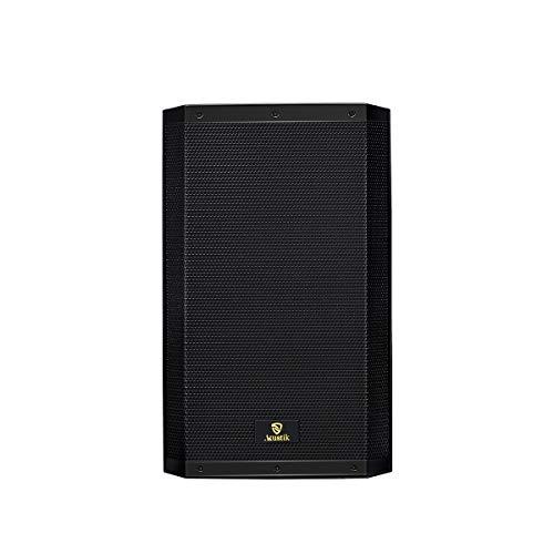AKUSTIK 15-Inch 2-Way 1200W Powered PA Speaker, Bluetooth DJ Loudspeaker, FM, USB, SD Card Reader, EQ, Remote Control, XLR,RCA (House Subwoofer Inch 15)