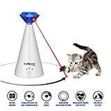 Pawsome Pets Automatic Cat Laser Toy - Pet Laser Light for Cats, Interactive Cat Chase Toy With 3 Rotating Modes - Auto Shut Off