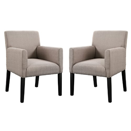 Modway Chloe Armchair Set of 2 in Beige