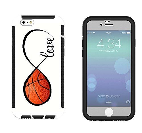 723–Love infinity diseño de balón de baloncesto iPhone 66S 11,9cm Full Body Case con Construir en Protector de...