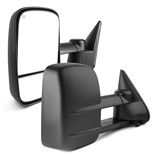YITAMOTOR Towing Mirrors Compatible for Chevy GMC, Power Heated Manual Telescoping Folding Tow Mirrors, for 1999-2002 Chevy Silverado GMC Sierra 1500 2500 3500, 2000 Chevy Tahoe GMC Yukon -
