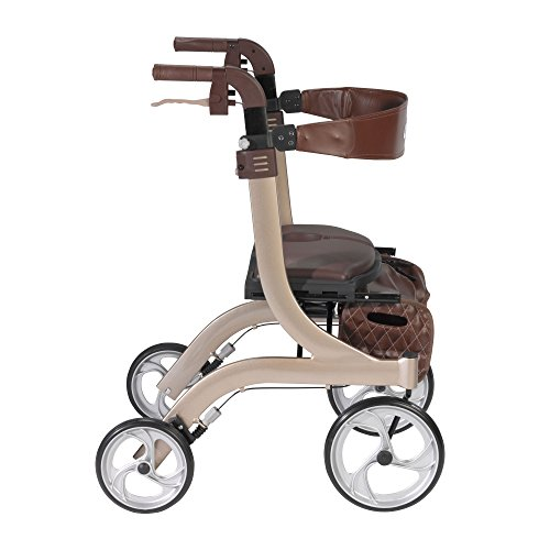Drive Medical Nitro DLX Euro Style Walker Rollator, Champagne by Drive Medical (Image #1)