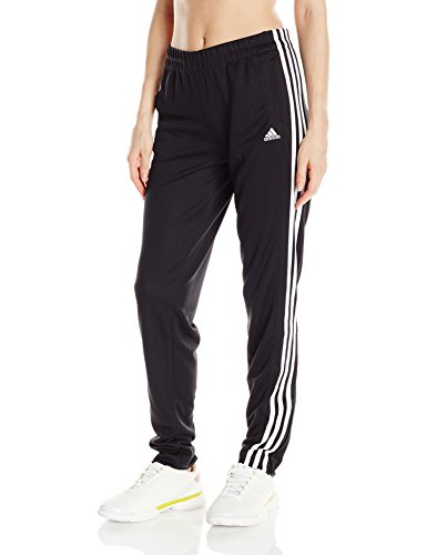 adidas Women's T10 Pants, Black/White, Medium (Track Pants With Buttons On The Side)