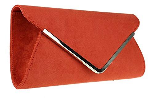 Red Senza Manici Borsetta Donna Girly Rust Handbags YqEv4