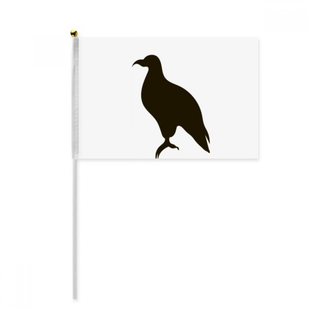 Black Eagle Cute Animal Portrayal Hand Waving Flag 8x5 inch Polyester Sport Event Procession Parade 4pcs